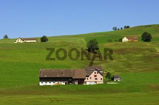 Streusiedlung im Appenzell, Schweiz