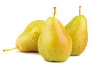 Three ripe yellow pears