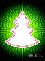 Christmas greeting with bursting christmas tree