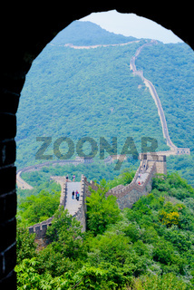 Muntianyu great wall china view through the arch