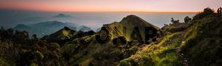 Panoramic photo of Mount Merbabu
