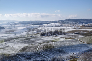 Ackerland im Winter