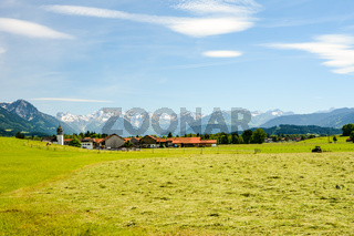 Village Agathazell in the Allgäu