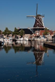 Windmühle 'De Vlijt' in der niederländischen Stadt Meppel