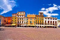 Piazza Bra square in Verona colorful view
