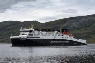 Das Fährschiff 'Loch Seaforth', fährt die Linie Stornoway-Isle of Lewis