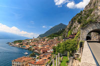 Panoramic view of Limone sul Garda, Italy