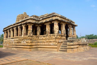 Entrance porch of Durga temple, Aihole, Bagalkot, Karnataka, India