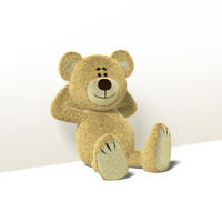 Nhi Bear Leans against Wall, Side