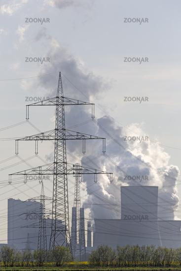 Kraftwerk Neurath, RWE-Power Energieunternehmen, Braunkohlekraftwerk, Grevenbroich, Rheinland, Nordrhein-Westfalen, Deutschland, Europa