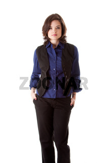 Young business woman standing