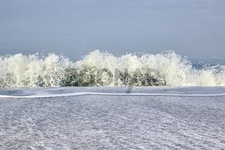 Wellen am Strand