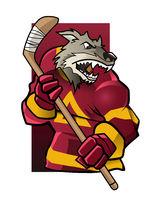wolf ice hockey player