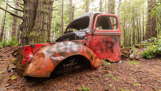 Rusty Vehicle in the Forest