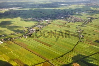 Fields of The Netherlands from above
