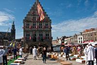 Käsemarkt in der niederländischen Stadt  Gouda