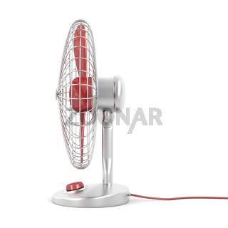 Electric fan on white