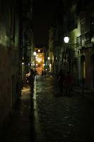 Lissabon Chiado Nachts im Restaurantviertel