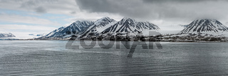Mountains in Svalbard islands, Norway