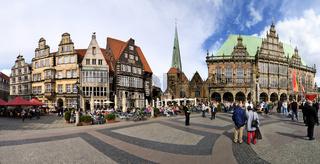 Der Bremer Marktplatz mit dem Rathaus
