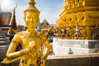 Golden Angel, Ki-nara, at Wat Phra Kaew, Grand Palace, Bangkok, Thailand