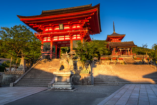 Otowa-san Kiyomizu-dera Temple in the Evening, Kyoto, Japan