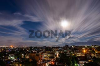 Full moon night in Patan, Nepal