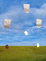 fliegende Teebeutel