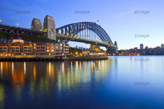 Sydney Harbour Bridge Australia Twilight