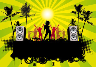 Partyflyer Beachparty