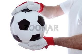 Spieler hält den Ball