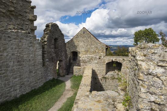 Die Burgruine Küssaburg, historisches Baudenkmal, Bechtersbohl