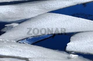Eisplatten auf dem Wasser