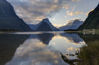 New Zealand Milford Sound Evening