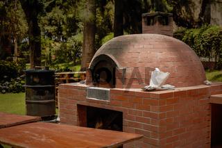 Small Rural  DIY Brick Smokehouse Ready for BBQ