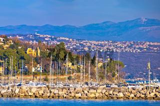 Opatija marina in Icici panoramic view