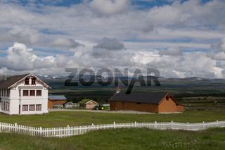 Bauernhof im Dovrefjell, Norwegen