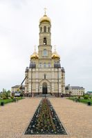 Temple in honor of Meeting of the Lord, on territory of Spiritual Orthodox Center in Vyatsky Posad village
