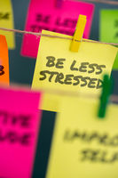 Notes concept for motivation to be less stressed