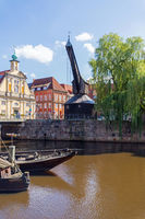 historic crane at Lueneburg