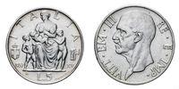five 5 Lire Silver Coin 1937 Fecondita fertility Vittorio Emanuele III Kingdom of Italy