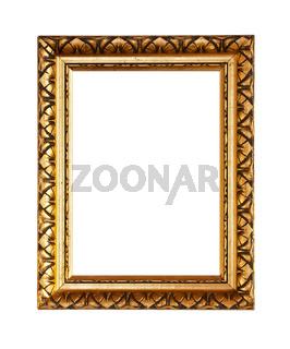 Golden ornately picture frame