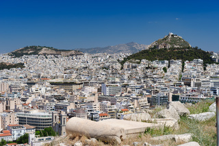 Modern Athens and Lycabettus hill