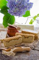 homemade oats and honey soap