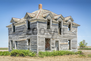 abandoned house in rural Nebraska