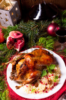 Christmas duck with millet