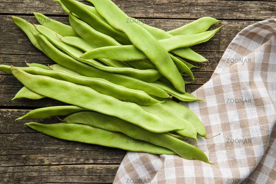 Green string beans pods