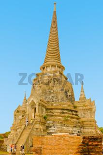 stone pagoda in ancient Ayutthaya thailand