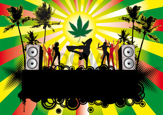 Partyflyer Beachparty Jamaika