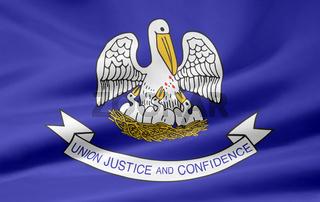 Flagge von Louisiana -  USA
